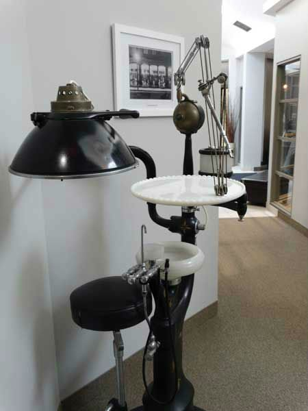 Antique dental station where patients received preventive dental care