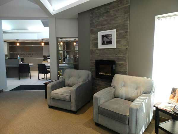 Waiting room for Uptown Guelph where patients can get preventive dental services